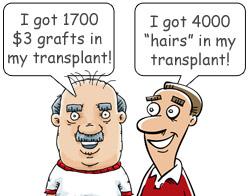 Hårtransplantation tegning